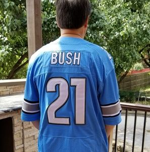 NFL Detroit Lions Reggie Bush Light Blue Jersey